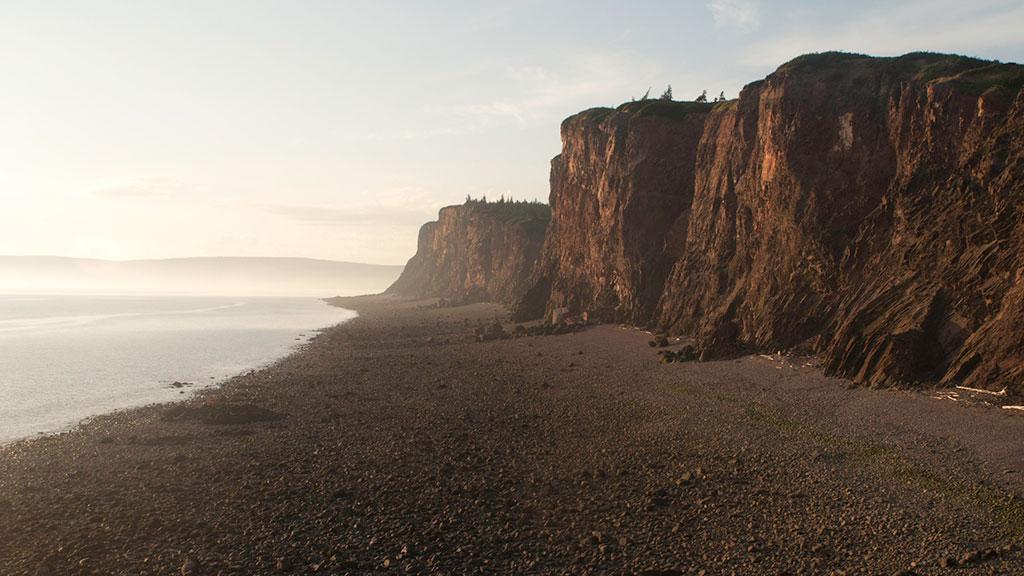 Cape D'Or cliffs low tide