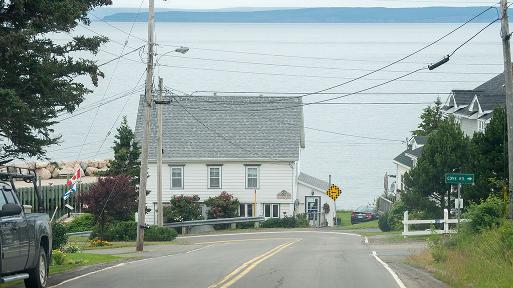 entering Halls Harbour