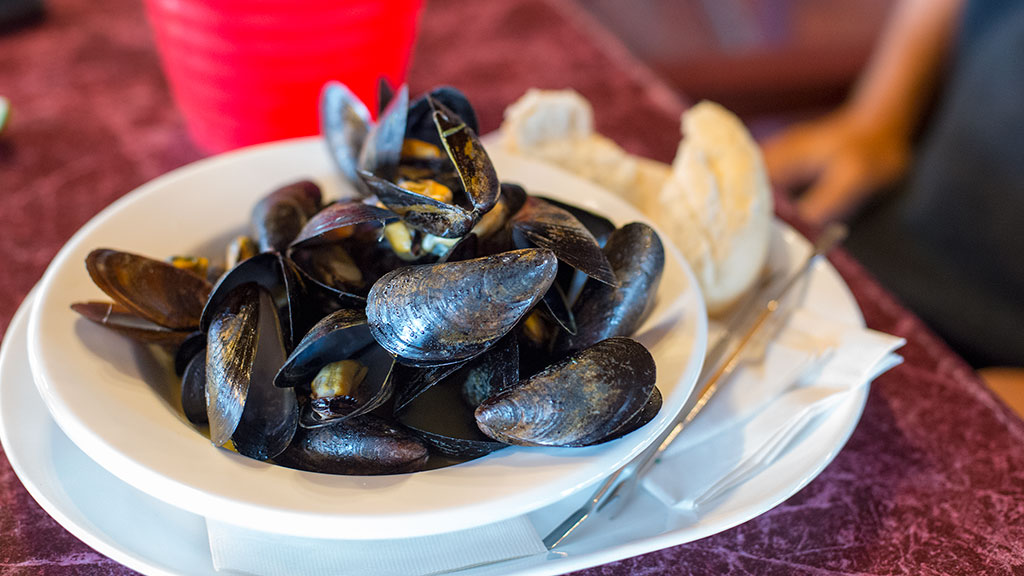 Mussels at Halls Harbour