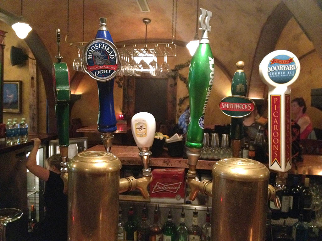 Beer taps at St James Gate