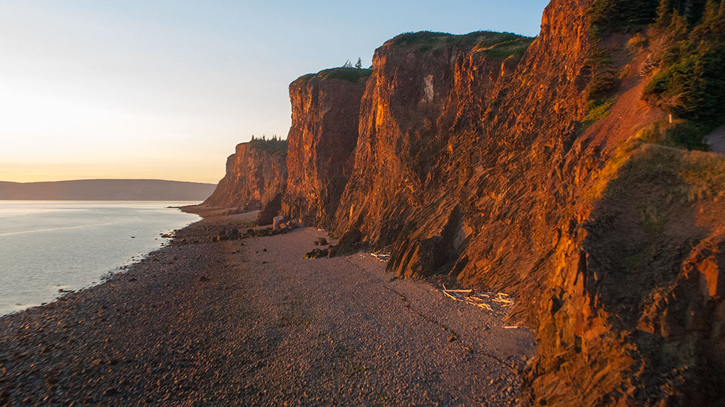 Cape D'Or copper cliffs
