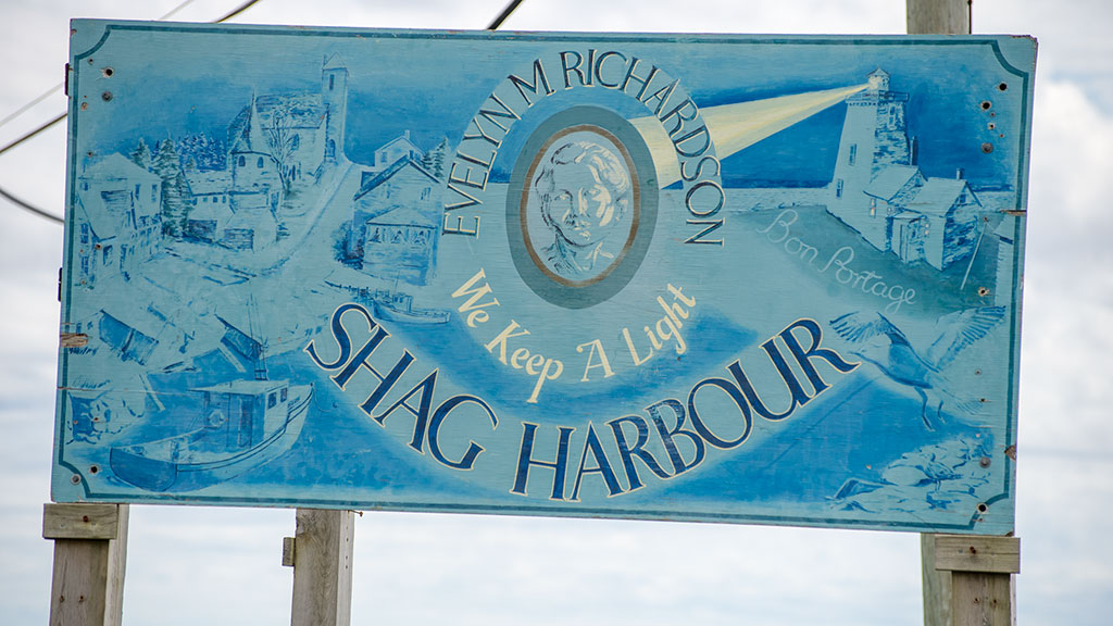 Shag Harbour sign