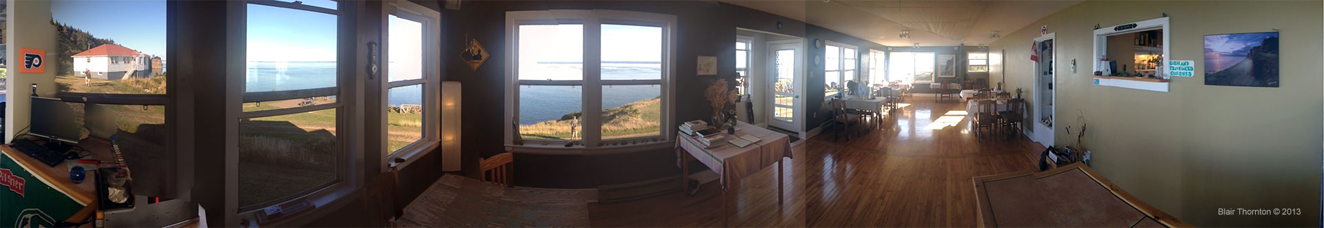 View from Lightkeeper's Kitchen Dining room
