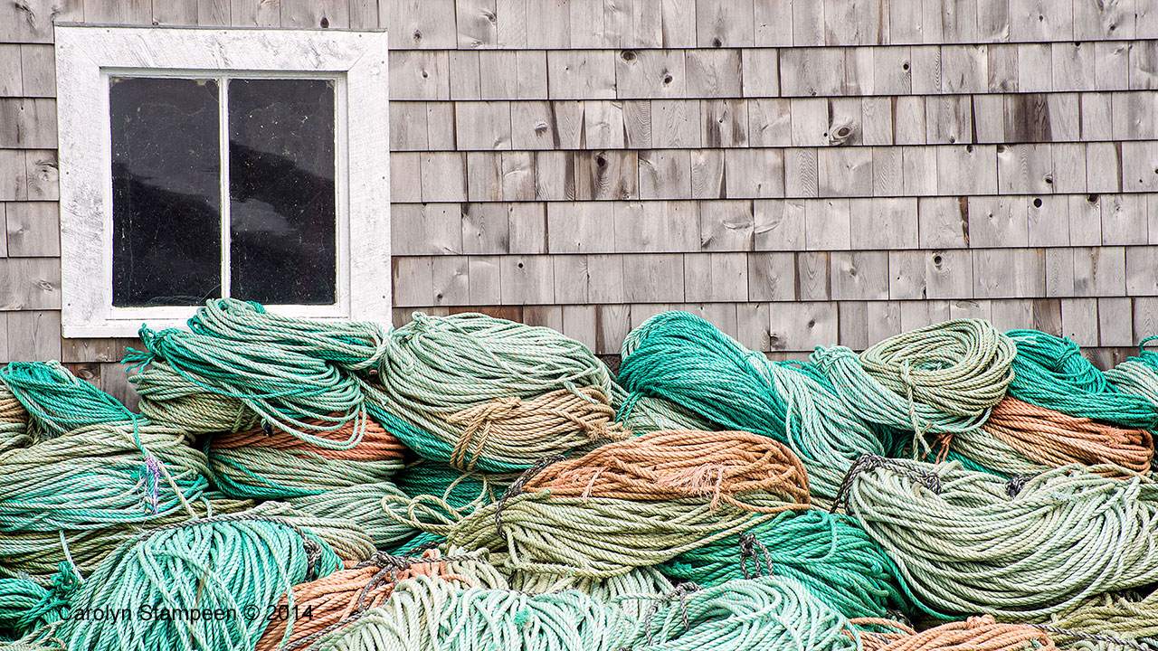 Coiled Rope at Fishing Shack, Westport NS