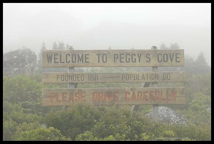 Peggy's Cove official sign
