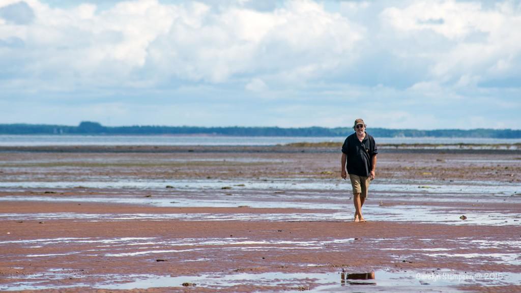 Blair on the beach