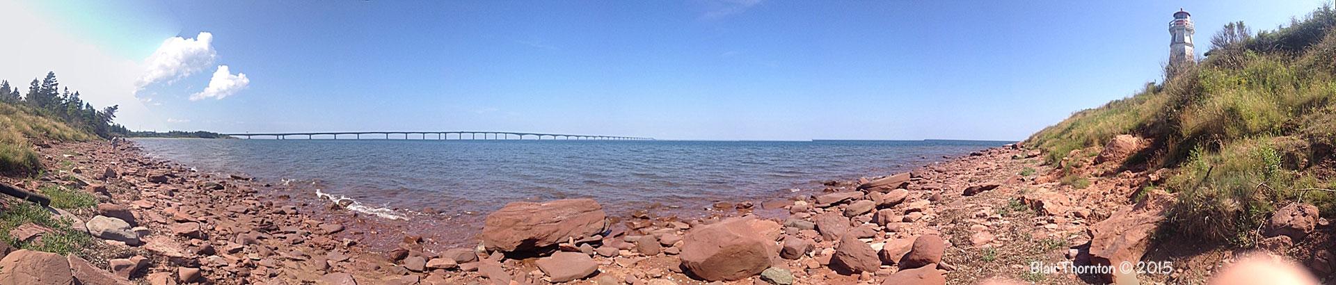 Cape-Jourimain Lighthouse and Confederation Bridge